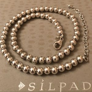Silpada Sterling Silver 6mm Bead Ball Necklace